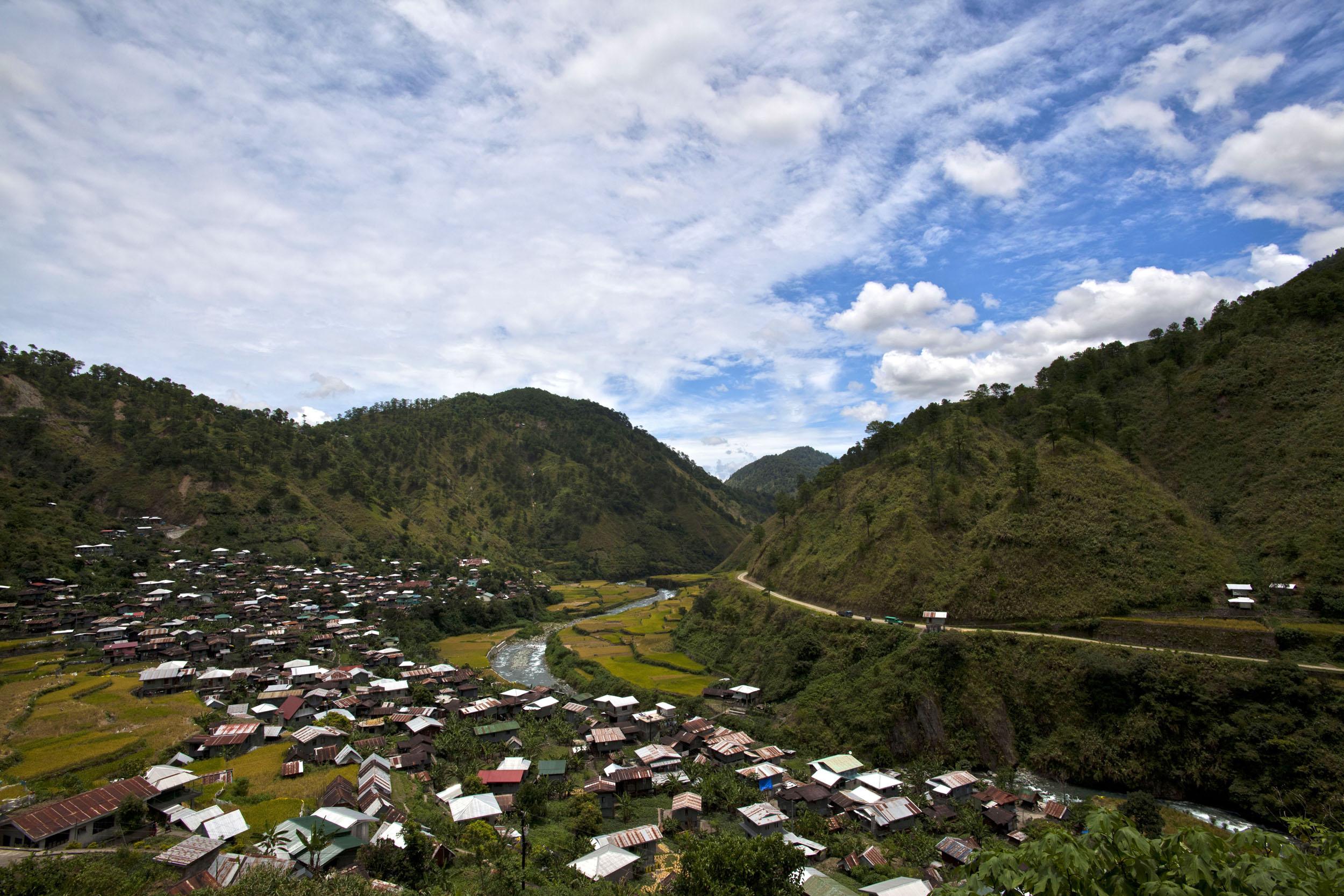 Panoramic views along the Kabayan Rd Halsema Highway from Baguio to Sagada Aug 2011 55