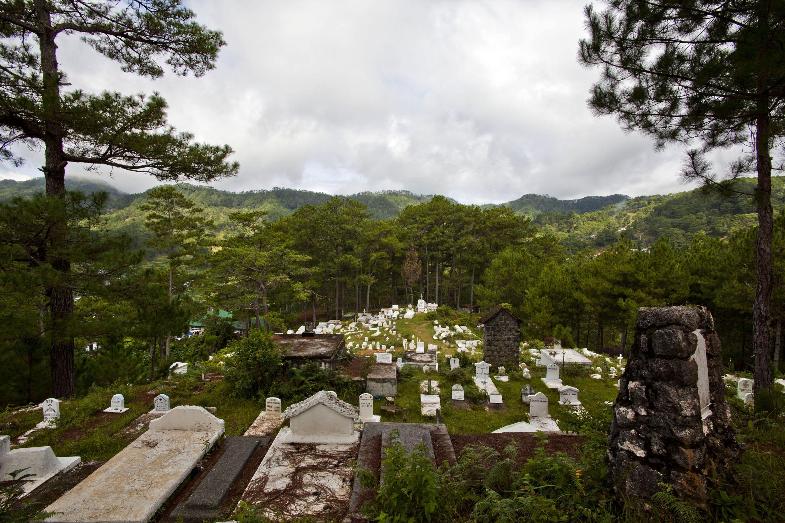 Sagada Church of St Mary the Virgin graveyard Mountain Province Philippines 2011 01