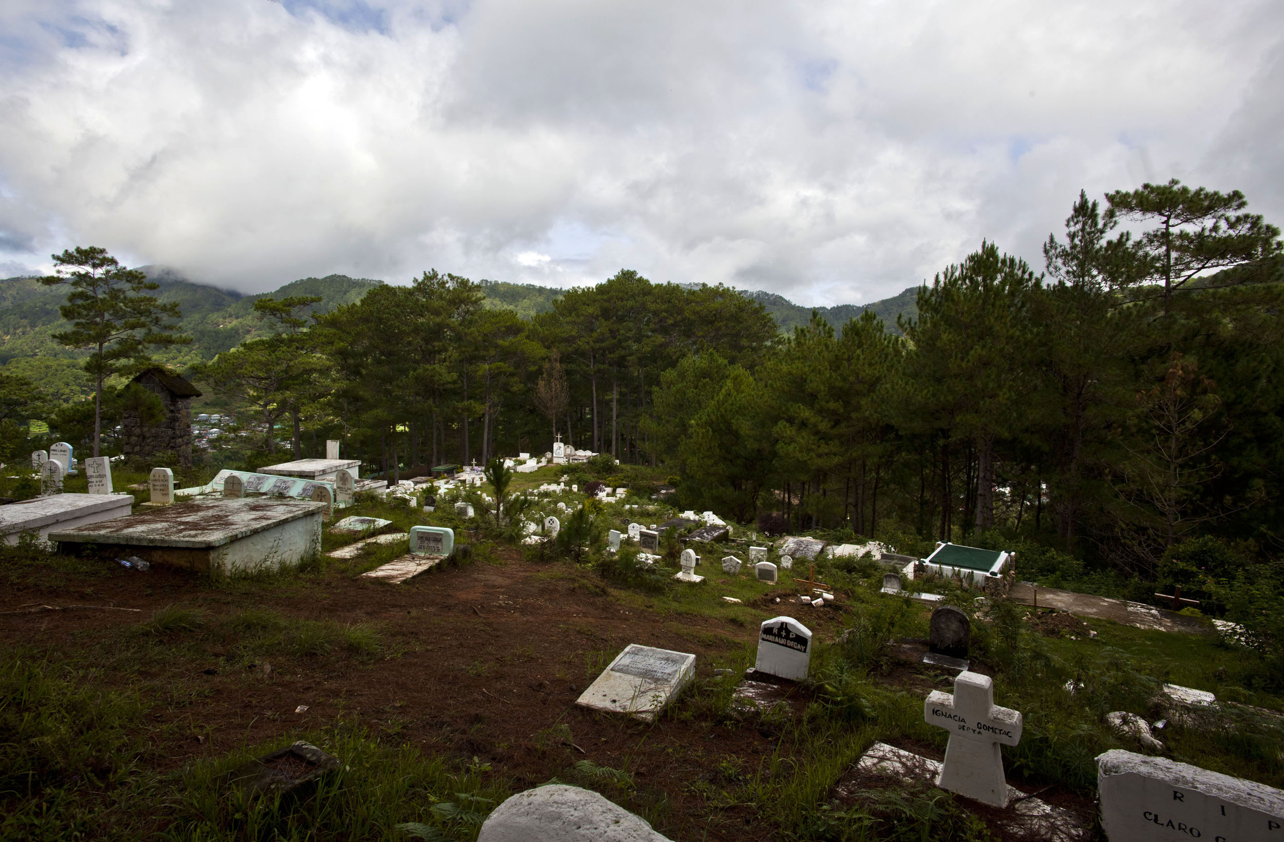 Sagada Church of St Mary the Virgin graveyard Mountain Province Philippines 2011 02