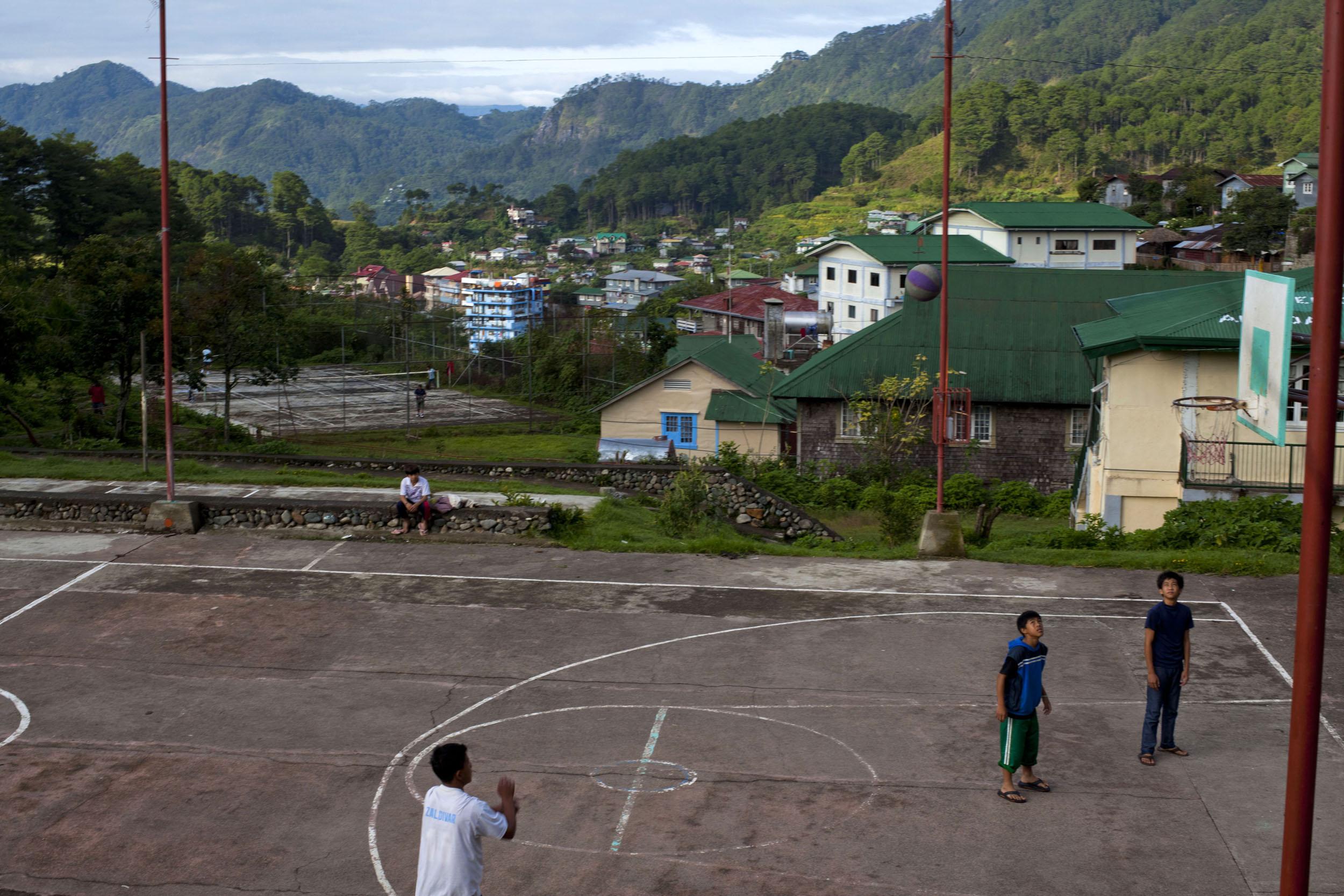 Sagada municipality local basketball court province of Mountain Province Philippines Aug 2011 01