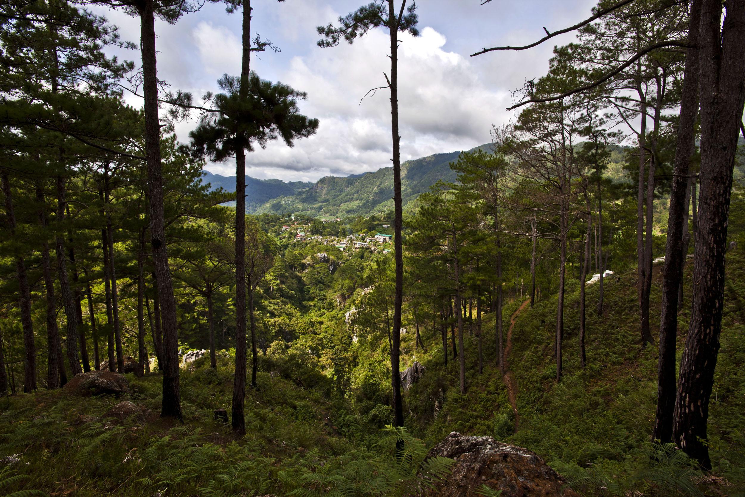 Sagada town panoramic mountain views Mountain Province northern Philippines Aug 2011 01