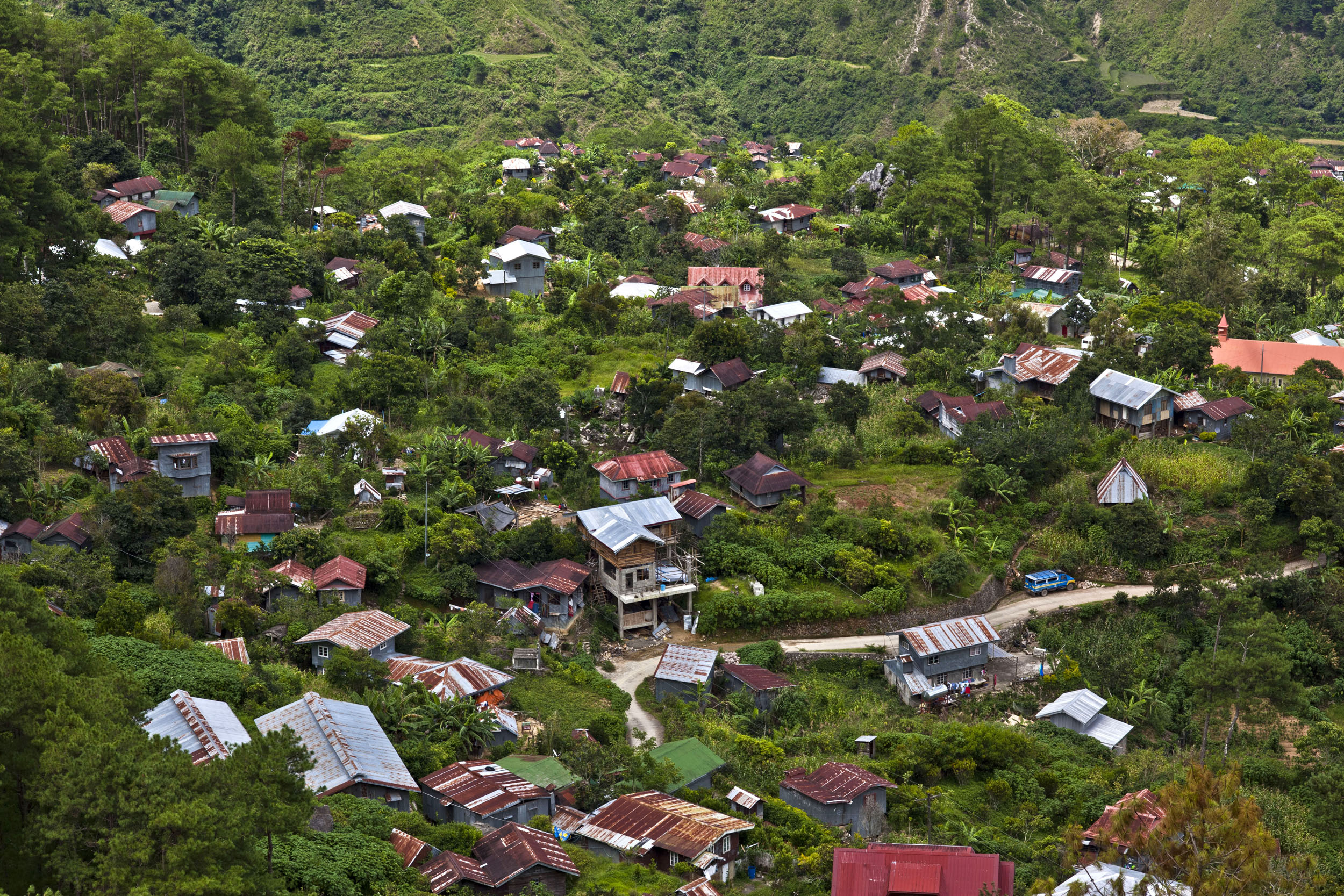 Sagada town panoramic mountain views Mountain Province northern Philippines Aug 2011 03
