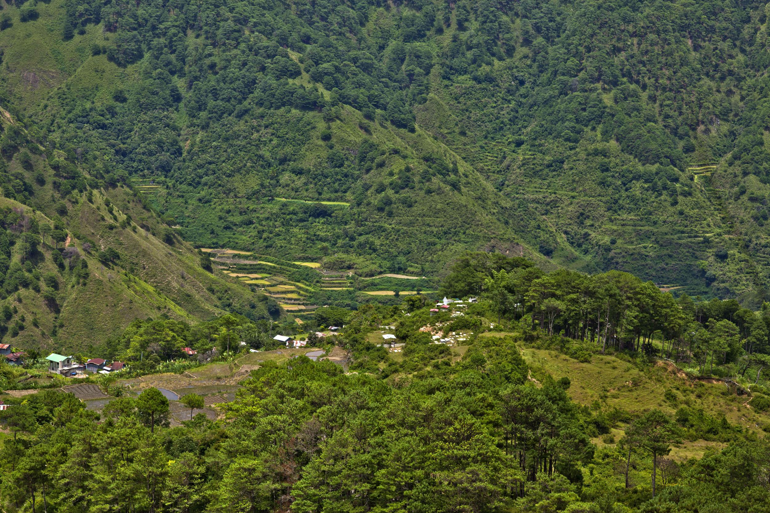 Sagada town panoramic mountain views Mountain Province northern Philippines Aug 2011 06