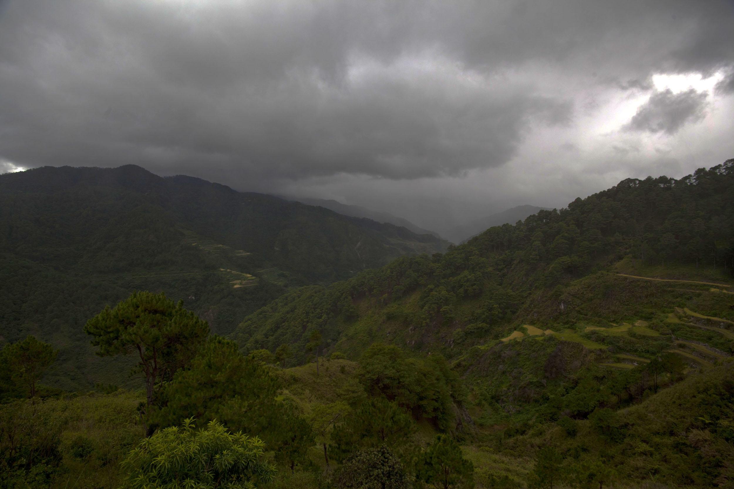 Sagada town panoramic mountain views Mountain Province northern Philippines Aug 2011 16