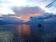 Asisbiz OMG sunset pastels using standard lens White Beach San Isidro Philippines 03