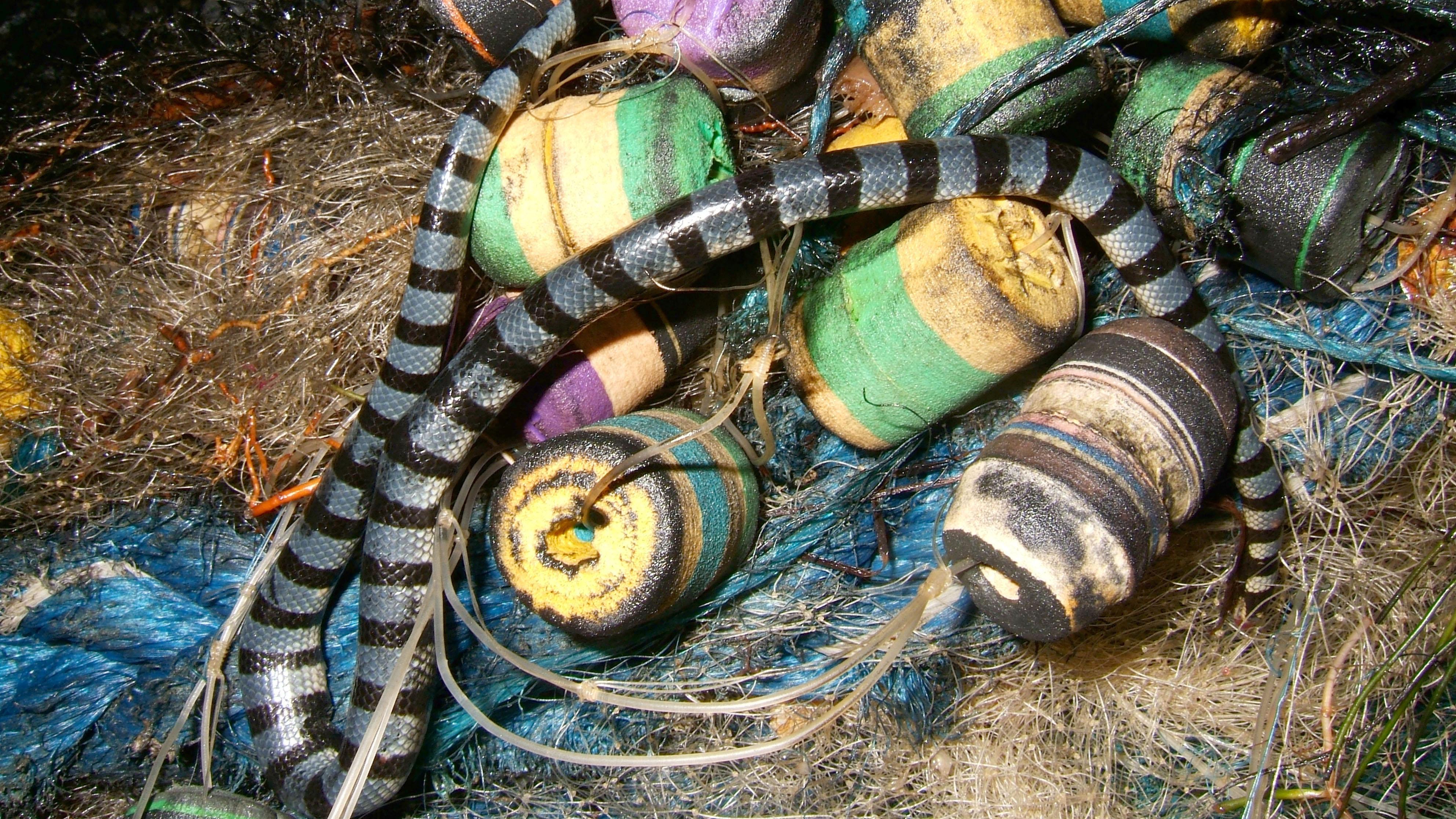 Textures Fishermans nets ocean polution 02