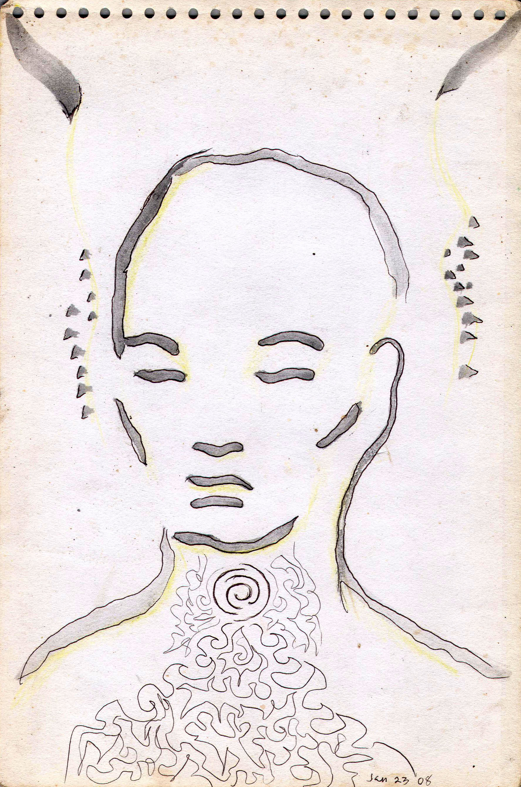 Sketches from the source by a Philippine shaman Bong Delatorre 09