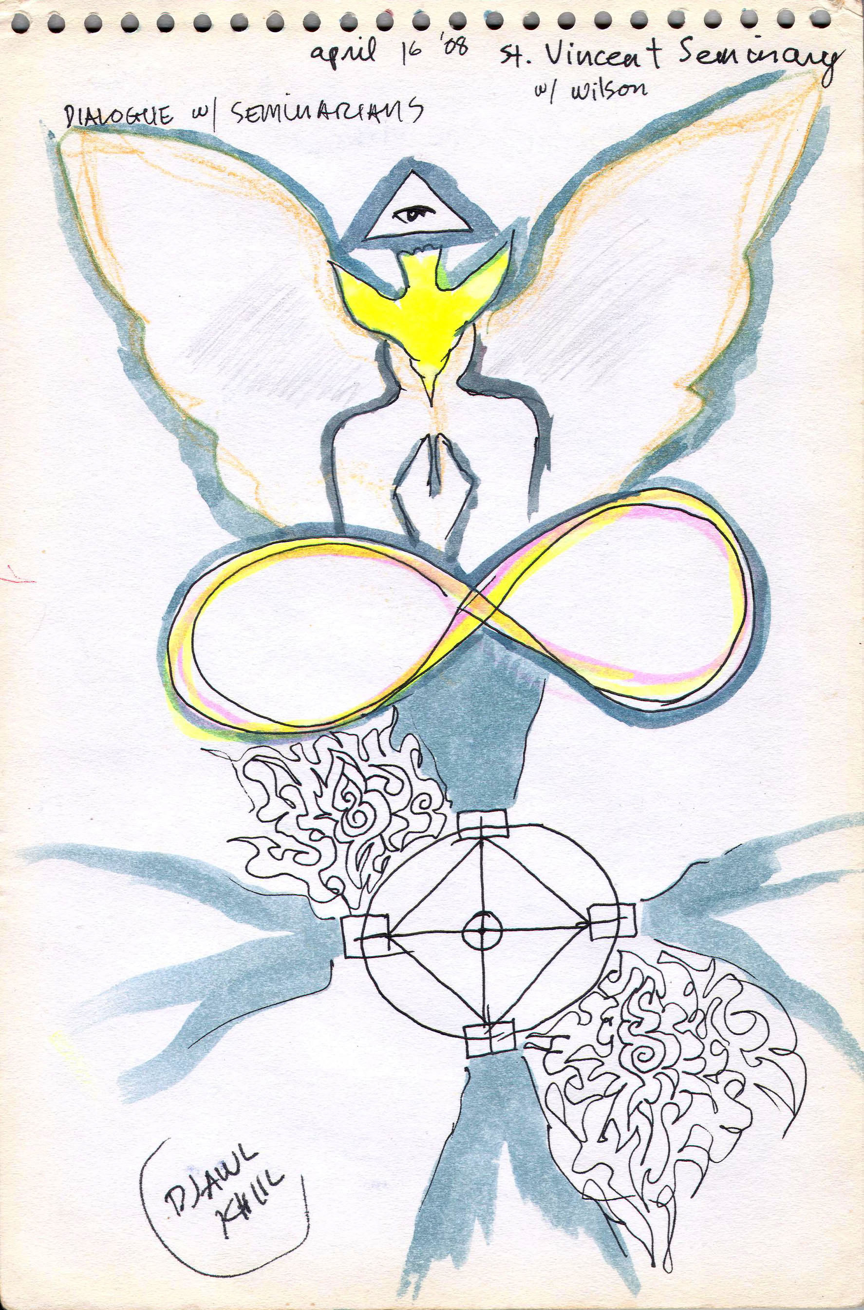 Sketches from the source by a Philippine shaman Bong Delatorre 20