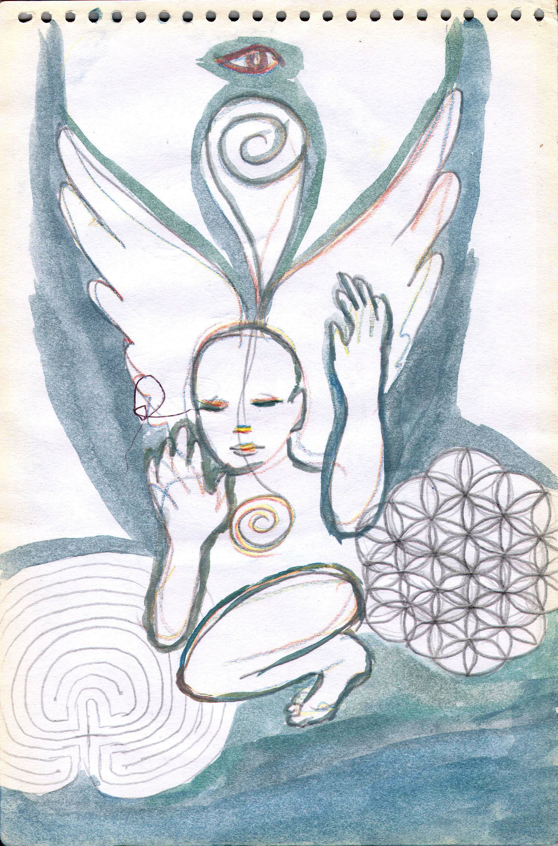 Sketches from the source by a Philippine shaman Bong Delatorre 27
