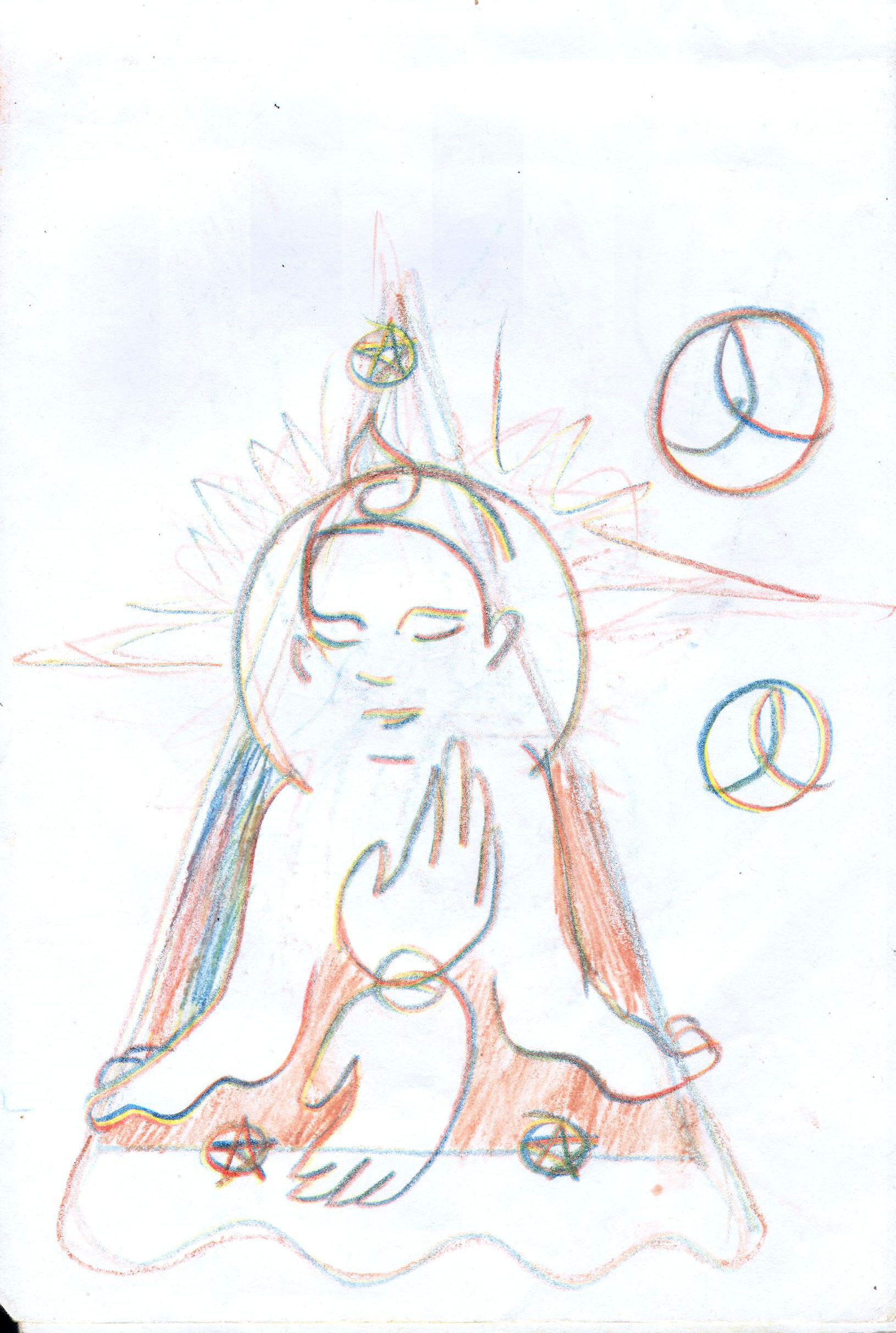 Sketches from the source by a Philippine shaman Bong Delatorre 55