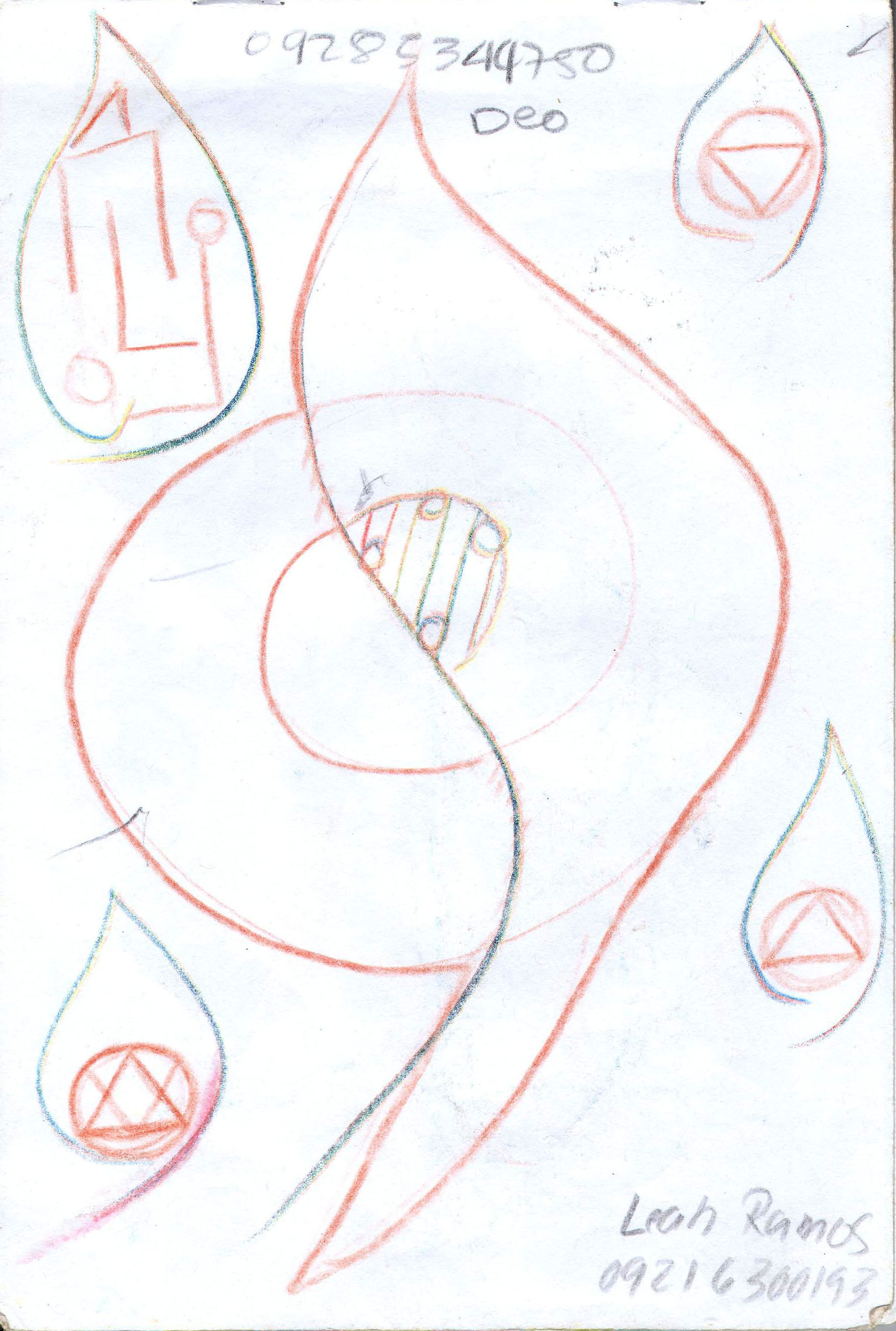 Sketches from the source by a Philippine shaman Bong Delatorre 56
