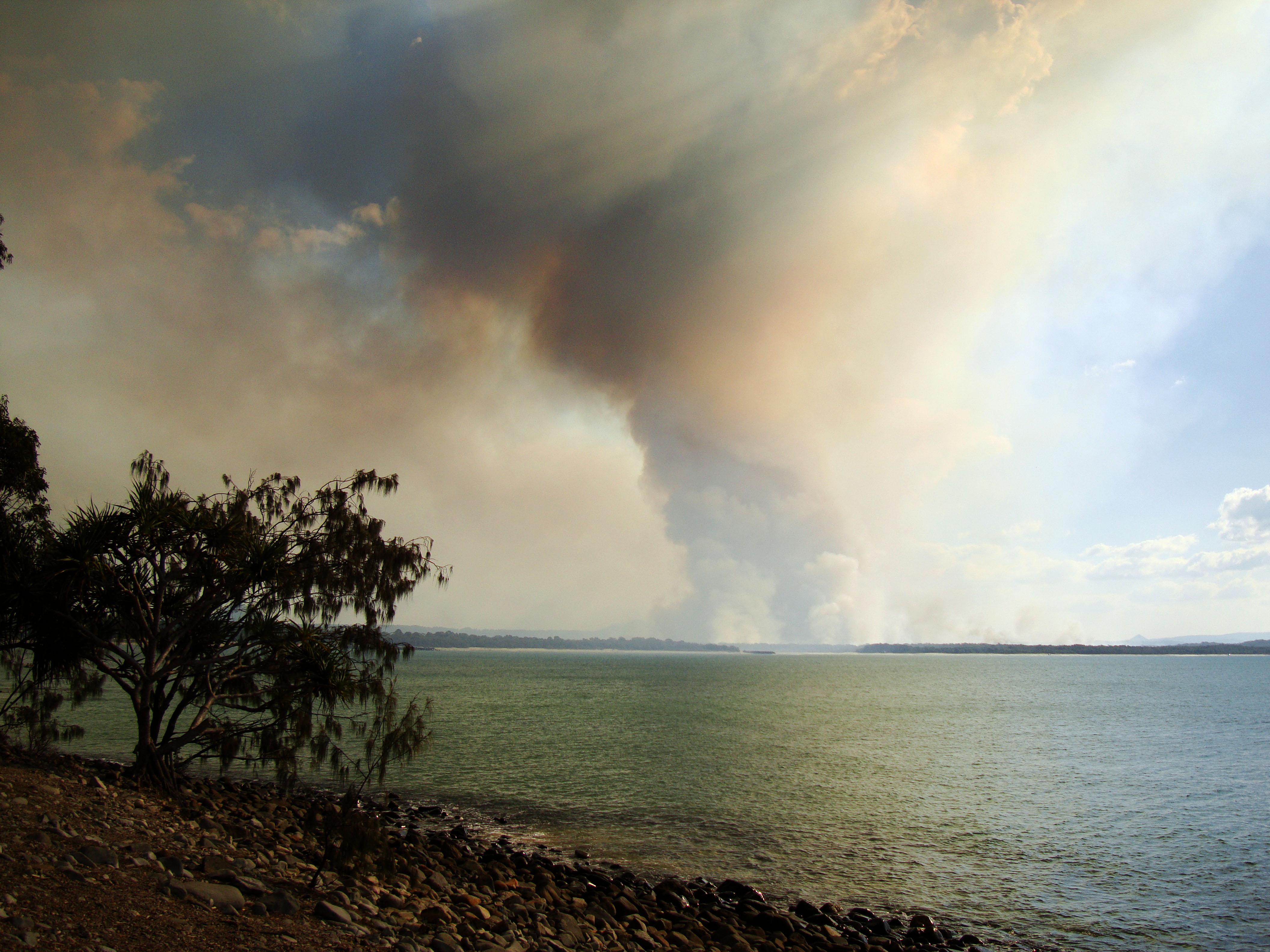 Textures Smoke Clouds Bushfires Weather Phenomena 01