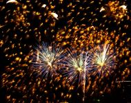 Asisbiz New Year 2011 Fireworks Makati Philippines 025
