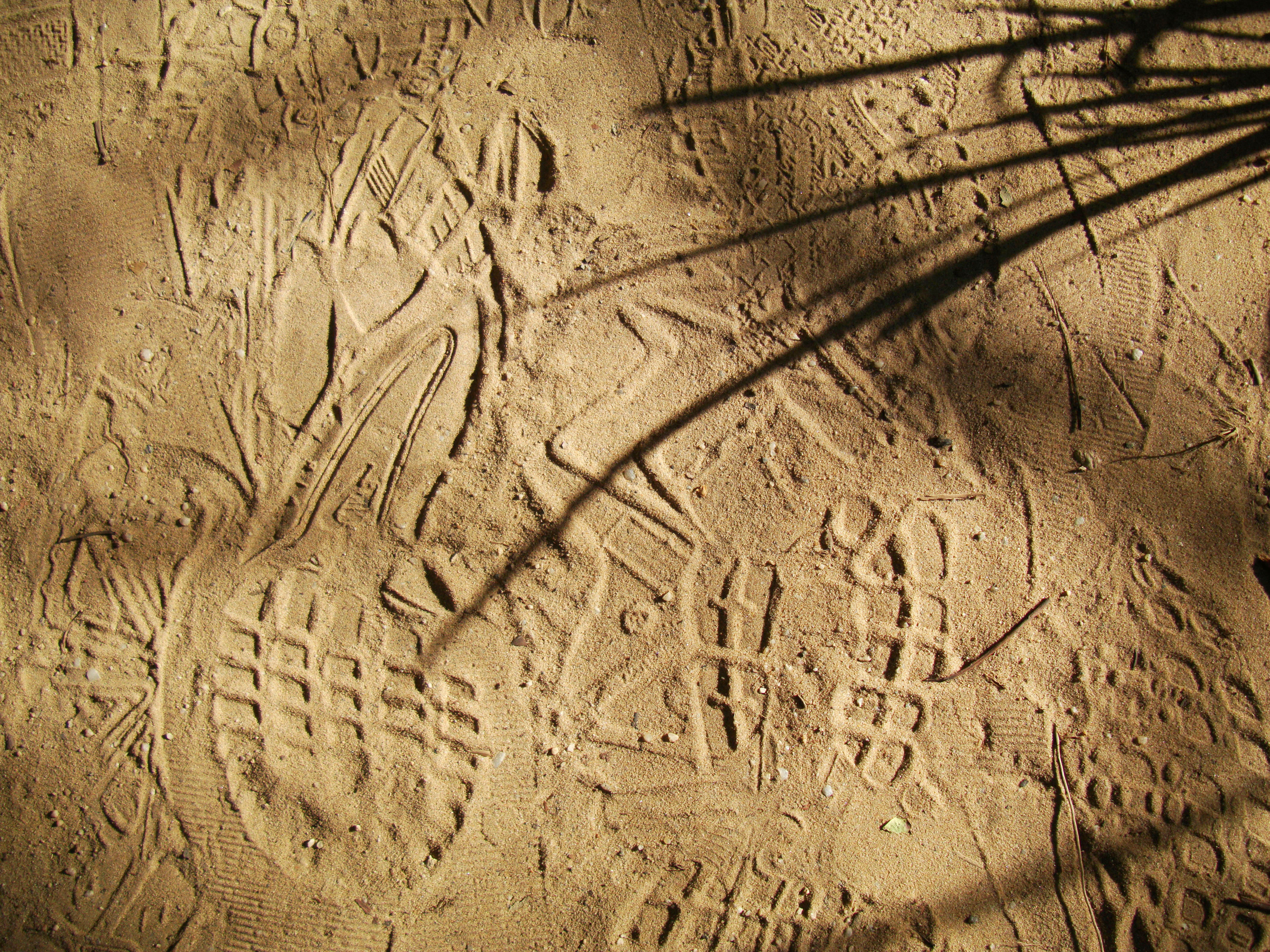Textures Beach Sand Foot Prints Ripple Efects Noosa 01
