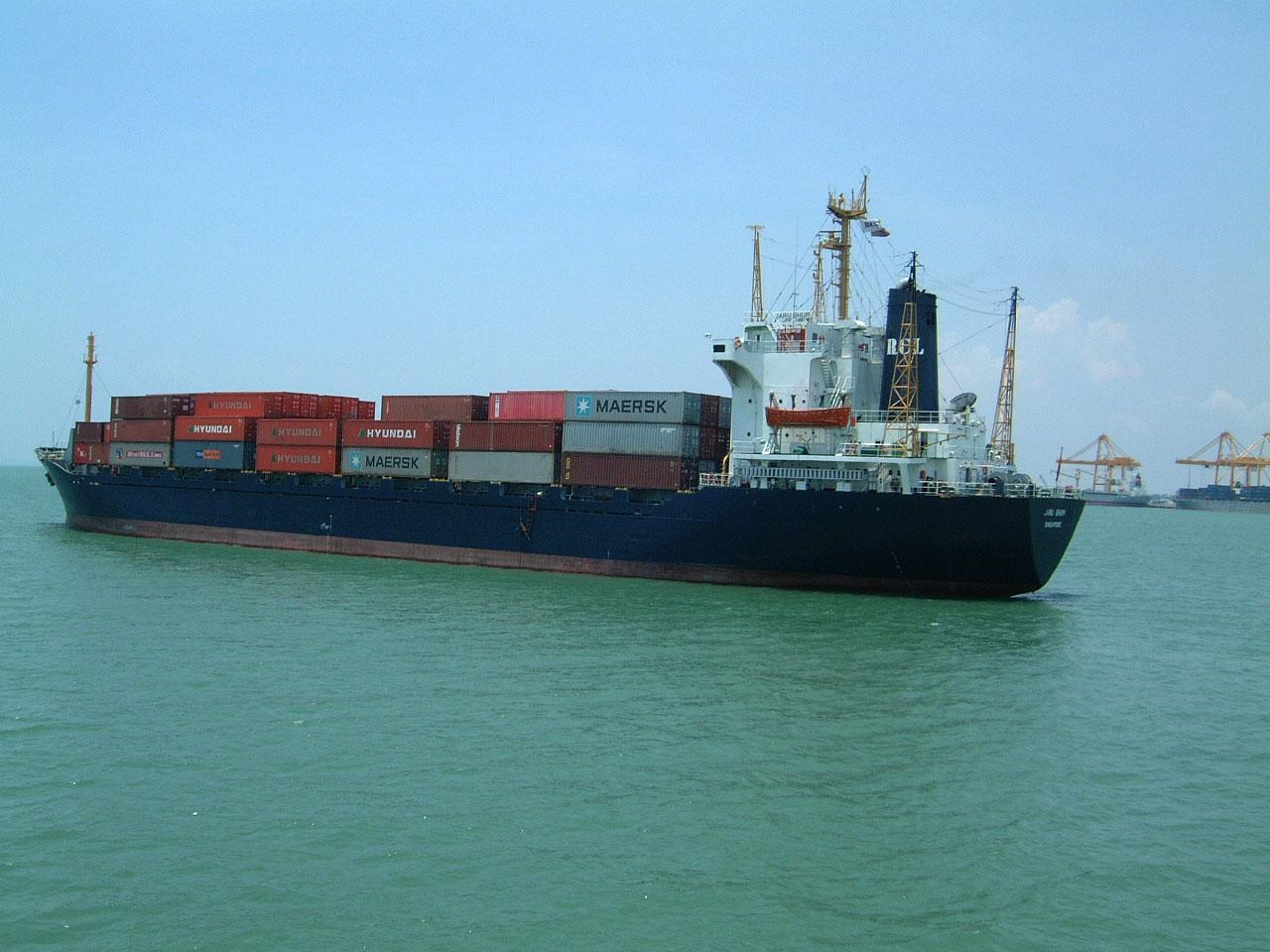 MV Jaru Bhum RCL shipping Penang Harbor Mar 2001 02