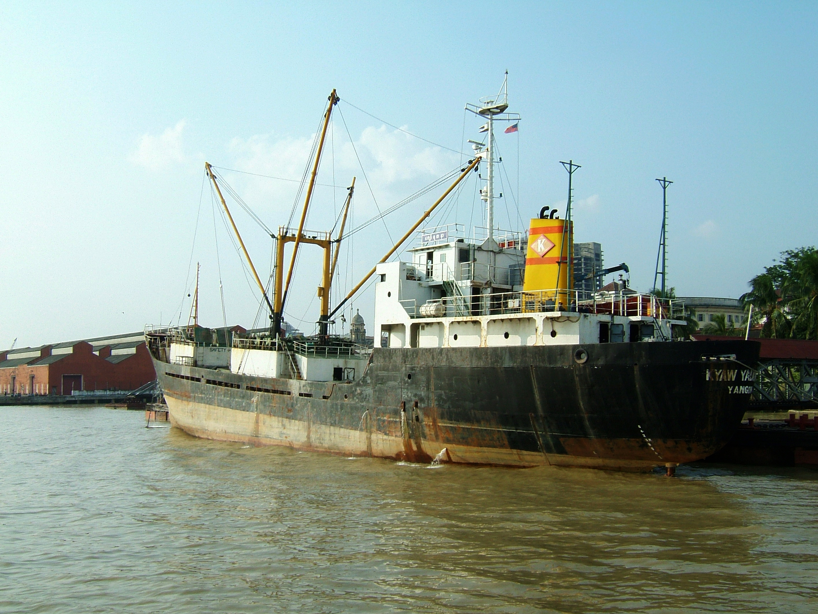 MV Kyaw Yadanar Yangon port Myanmar Oct 2004 01