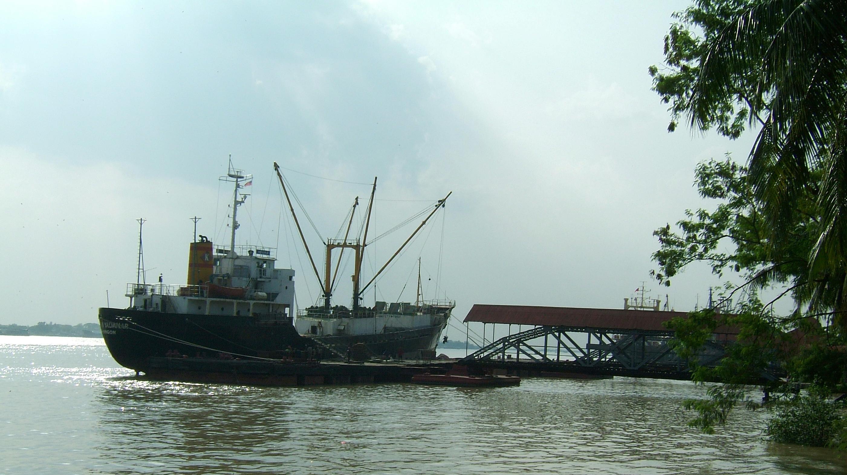 MV Kyaw Yadanar Yangon port Myanmar Oct 2004 02