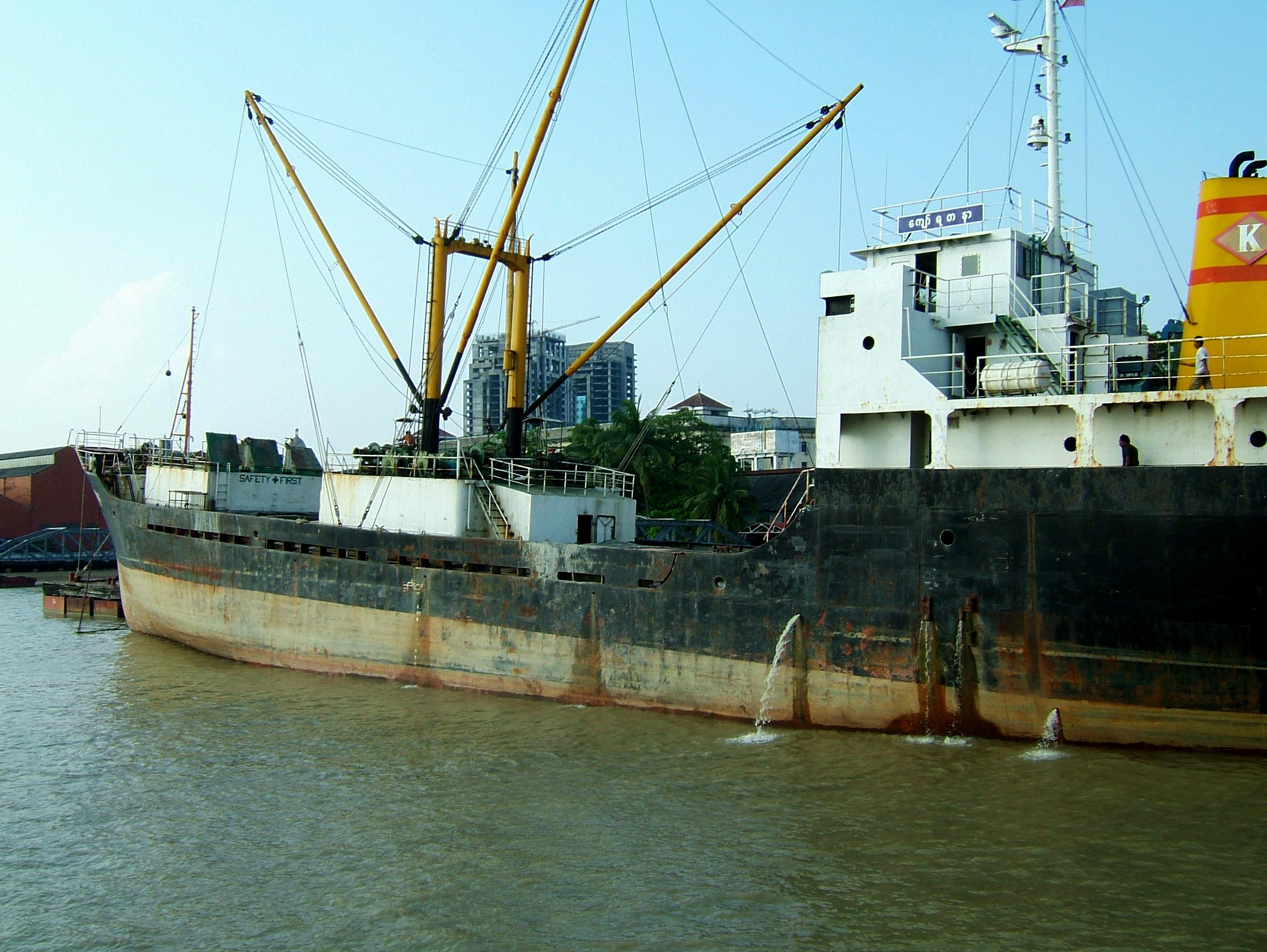MV Kyaw Yadanar Yangon port Myanmar Oct 2004 05