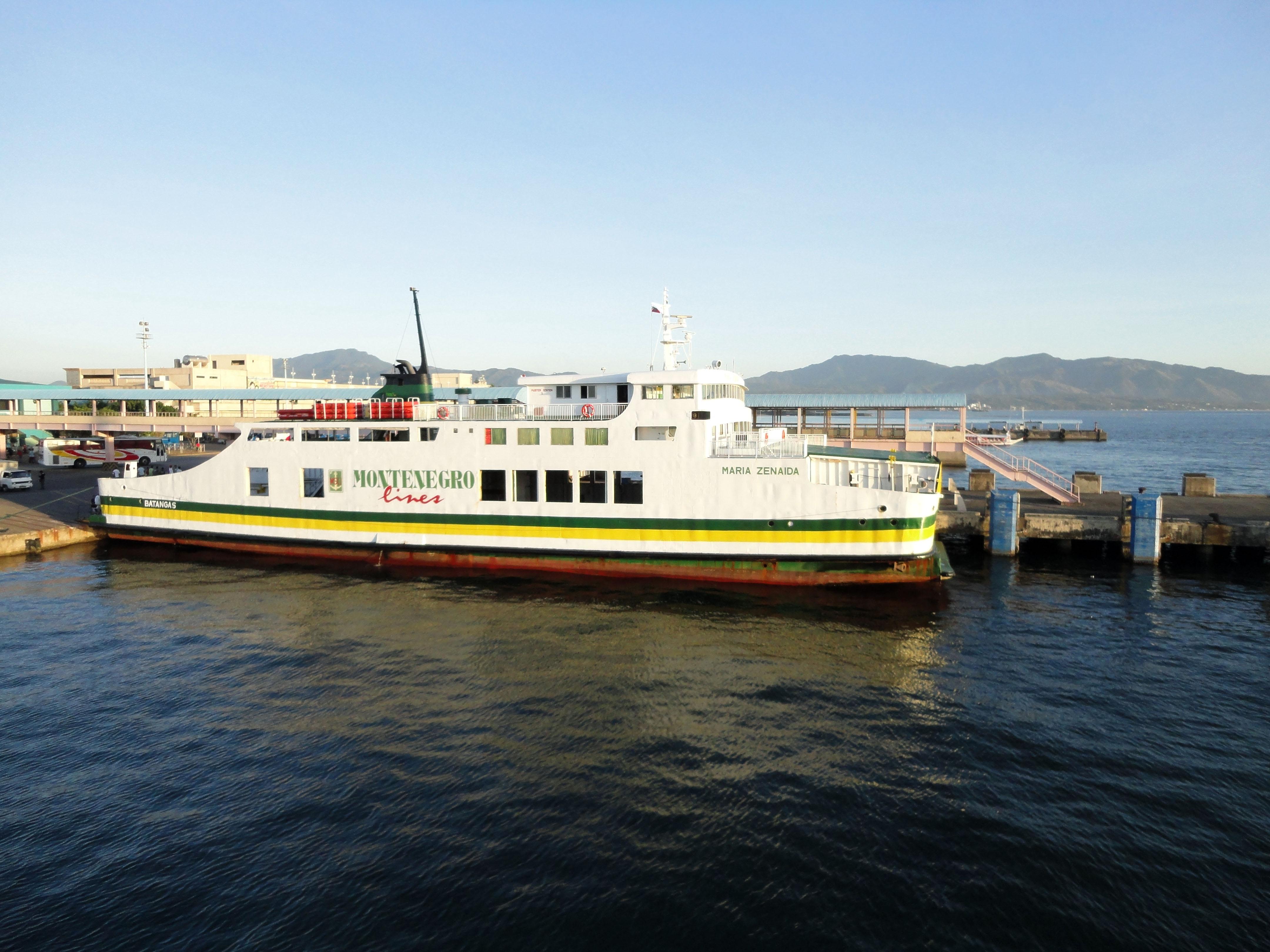 MV Maria Zenaida Montenegro lines Batangus Pier Philippines 01
