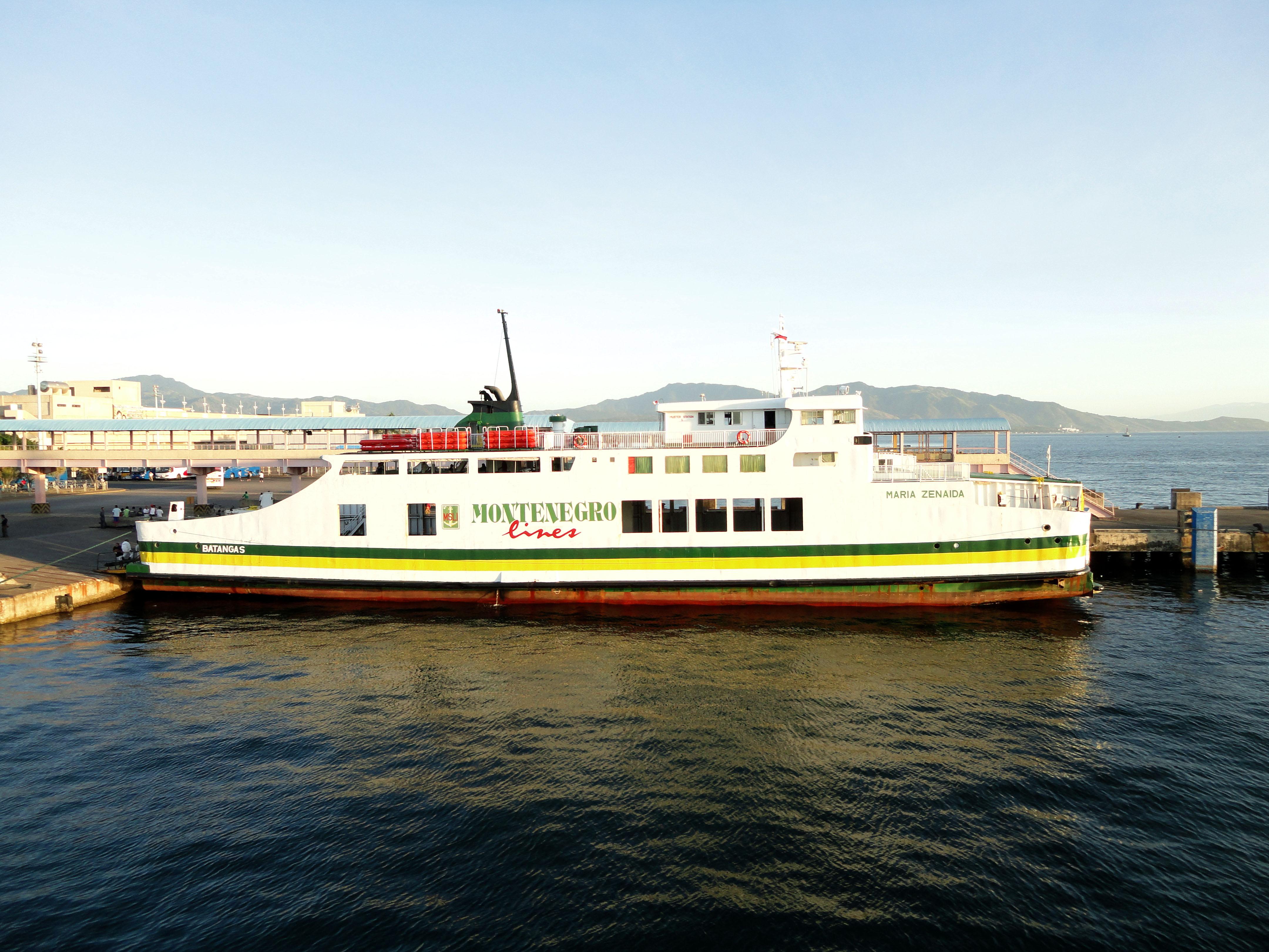 MV Maria Zenaida Montenegro lines Batangus Pier Philippines 02