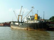 Asisbiz MV Kyaw Yadanar Yangon port Myanmar Oct 2004 01