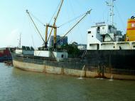 Asisbiz MV Kyaw Yadanar Yangon port Myanmar Oct 2004 05