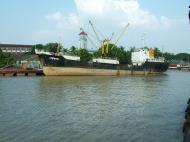 Asisbiz MV Kyaw Yadanar Yangon port Myanmar Oct 2004 06