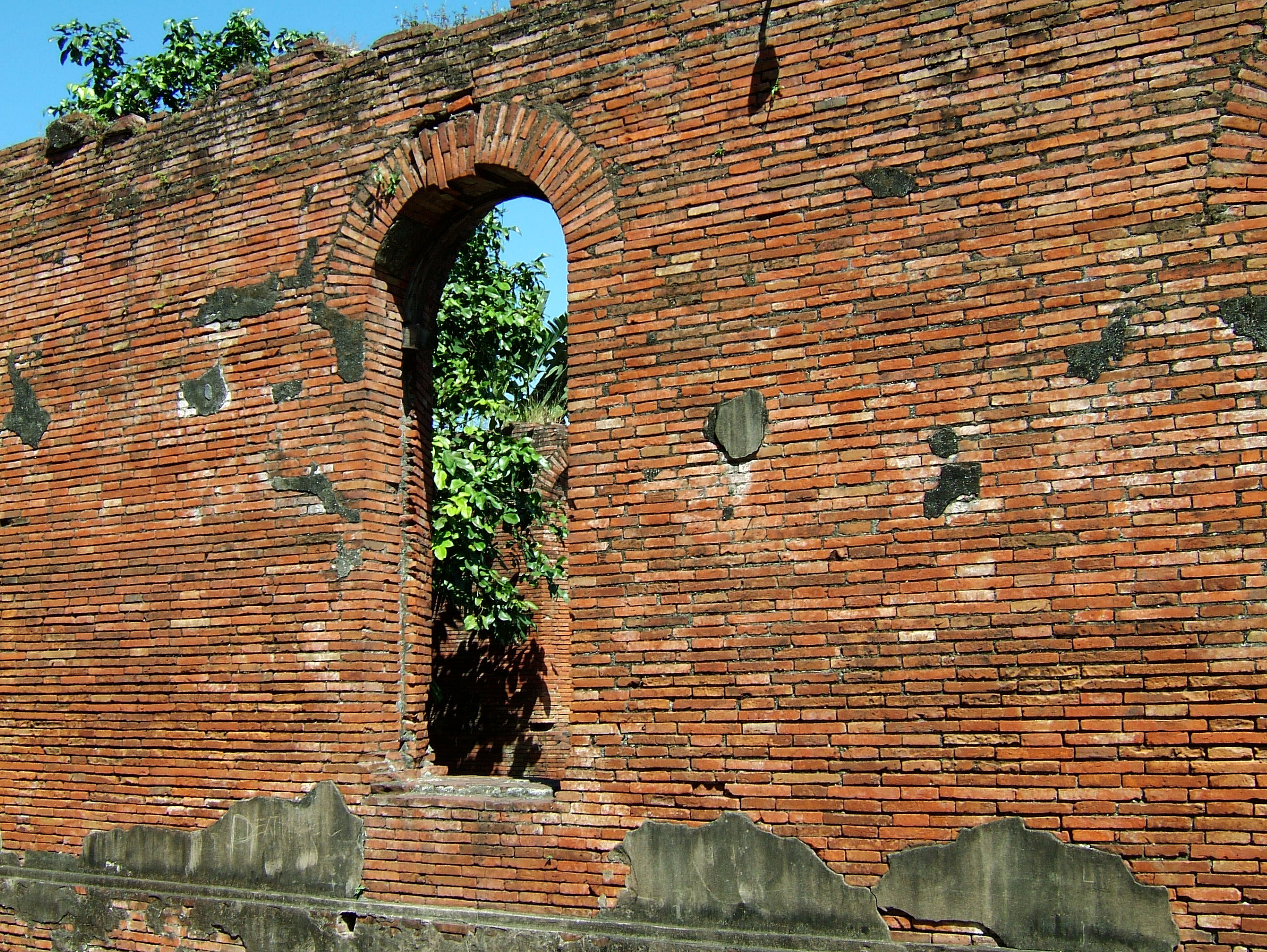 Textures Brickwork clay bricks Manila Fort 02