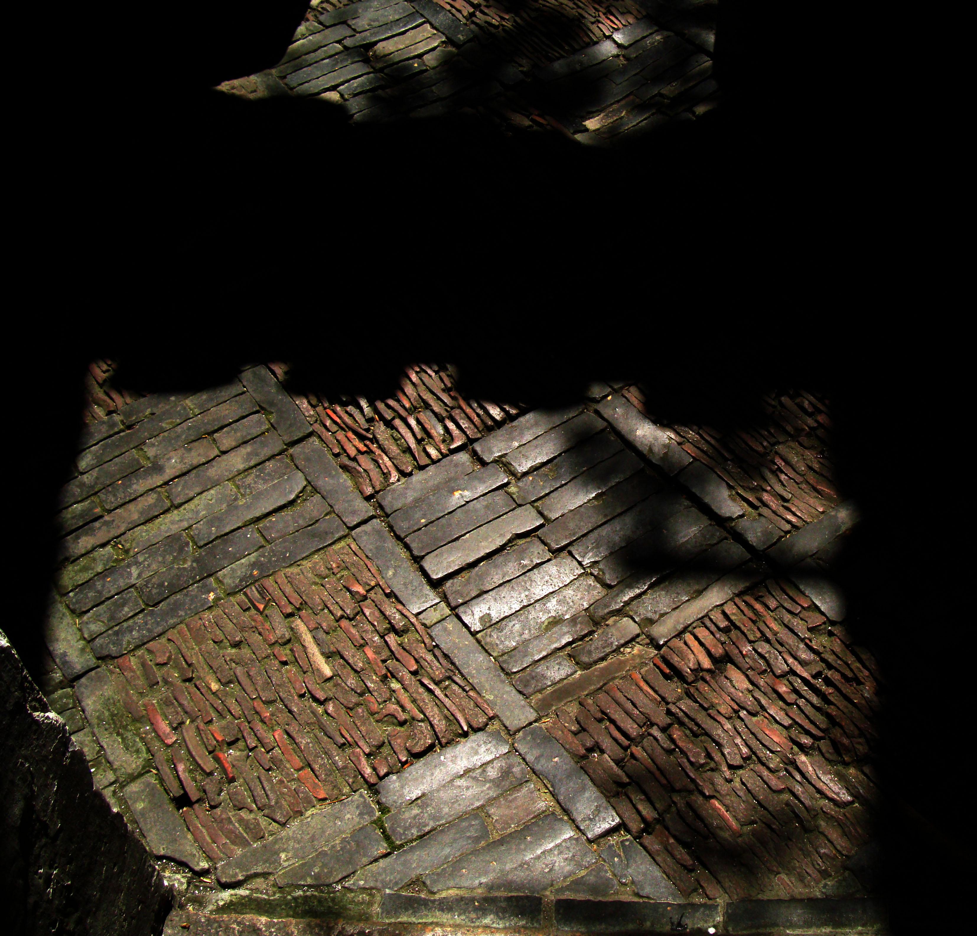 Yu Garden walkway brick work Shanghai 04