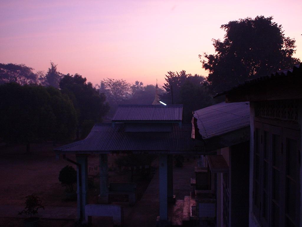 Sunset Myanmar Monastery Full Moons Day 01