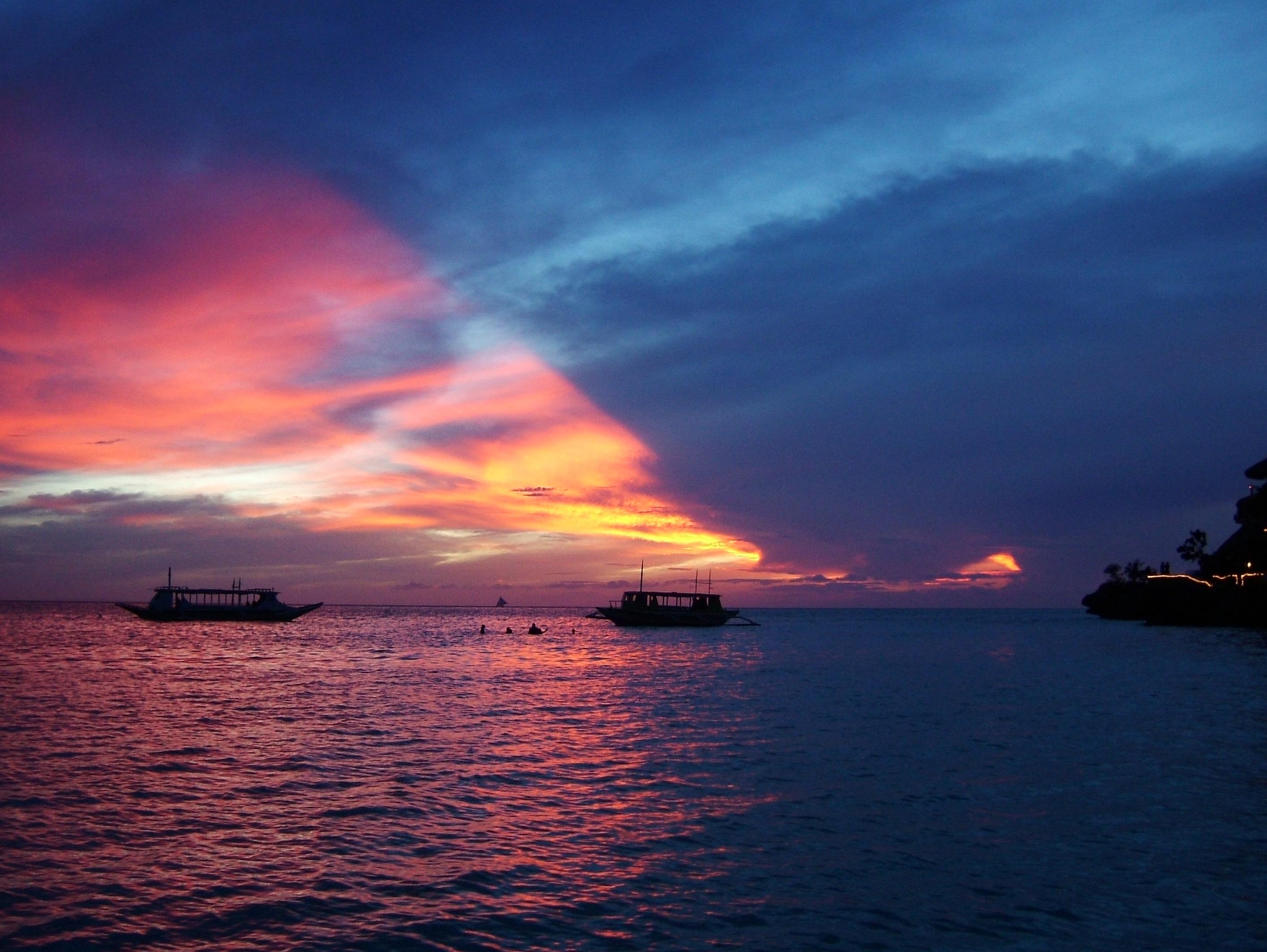 Sunset Philippines Boracay Beach 01