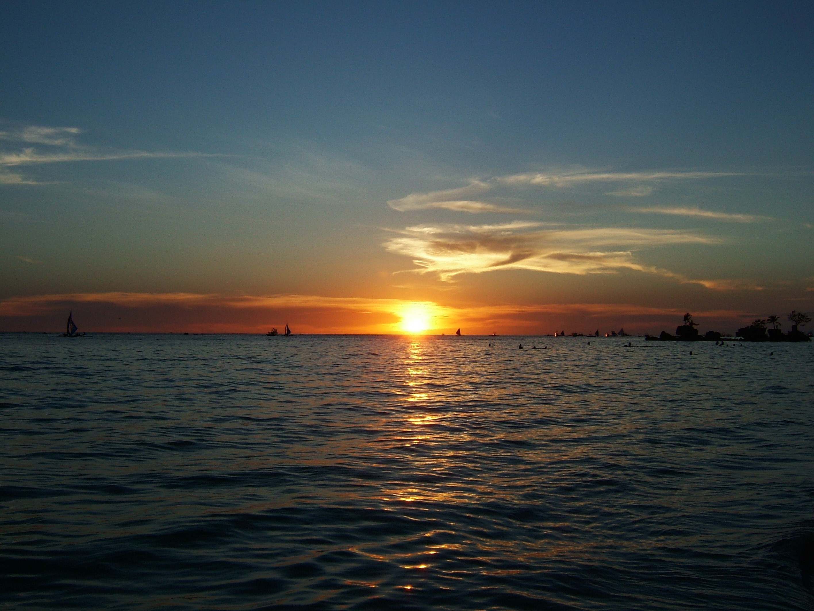 Sunset Philippines Boracay Beach 05