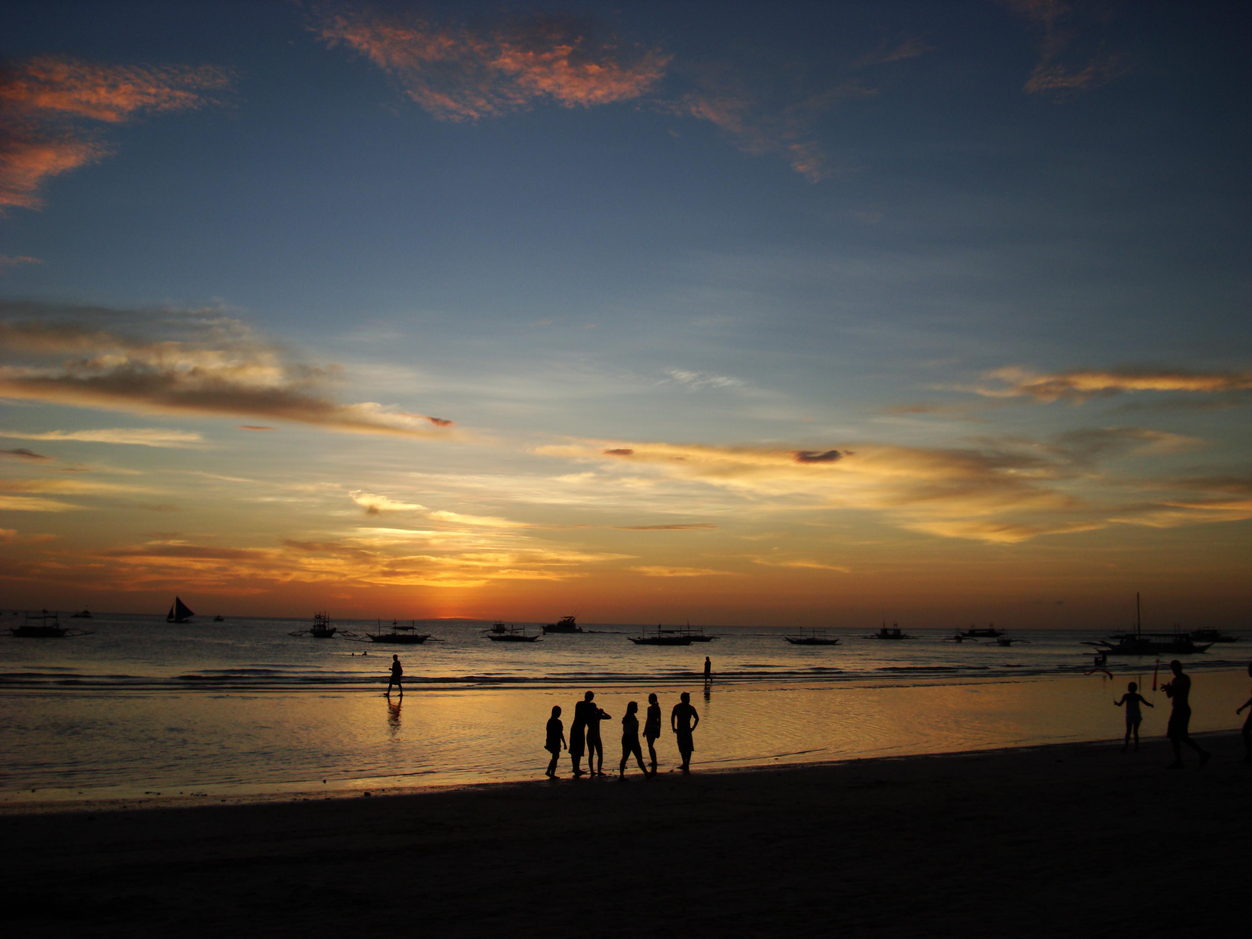Sunset Philippines Boracay Beach 06