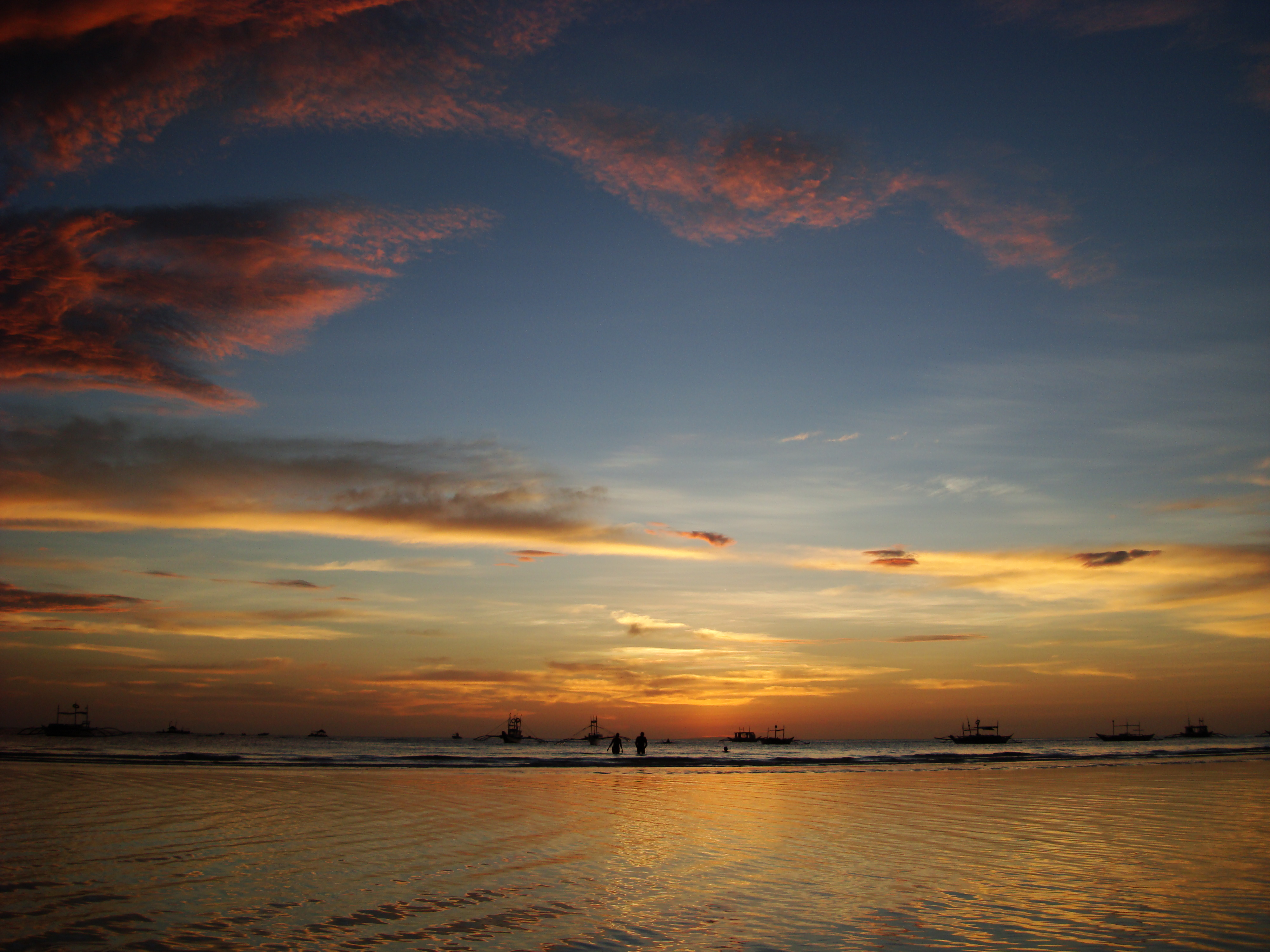 Sunset Philippines Boracay Beach 09