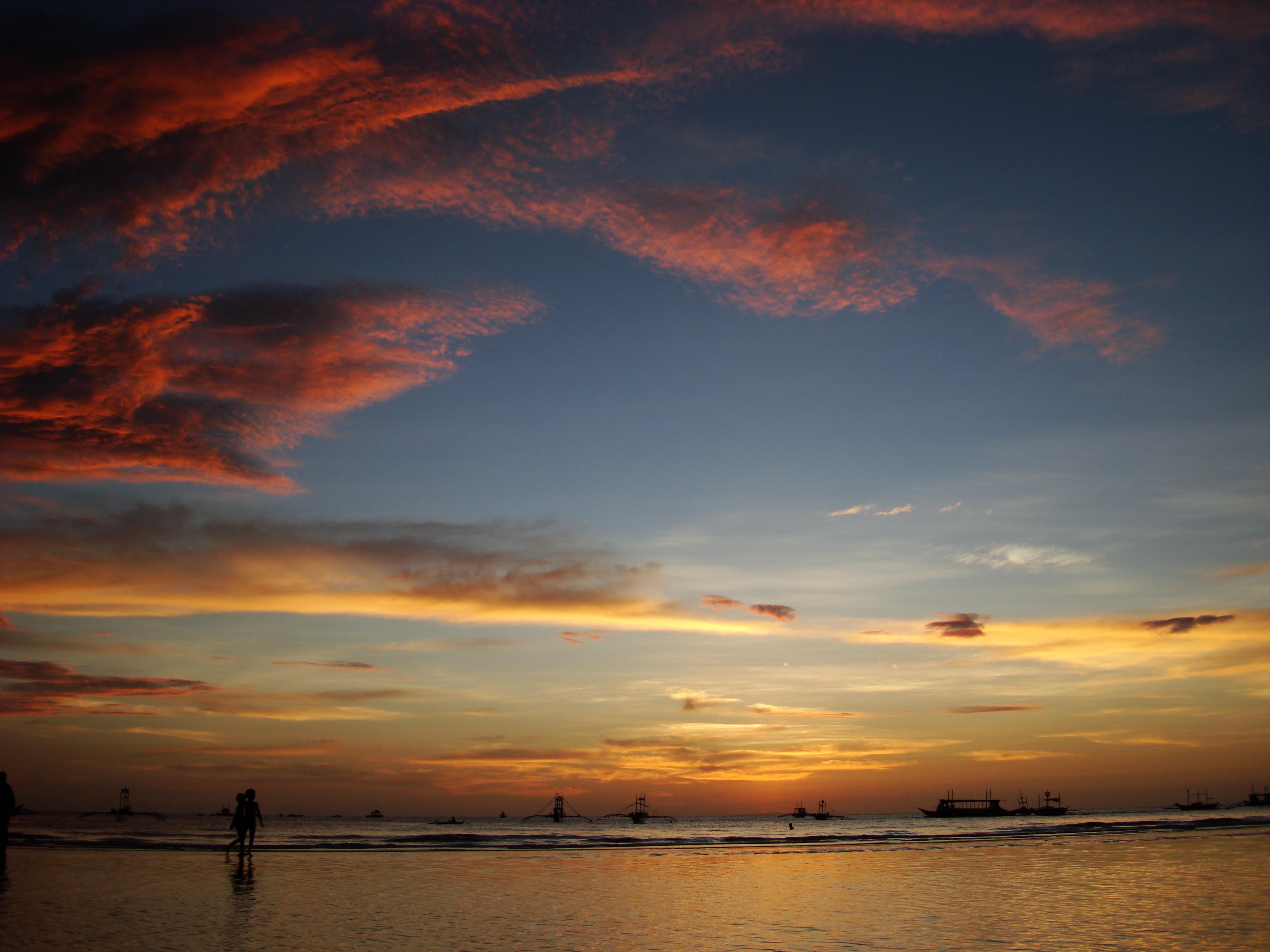 Sunset Philippines Boracay Beach 13