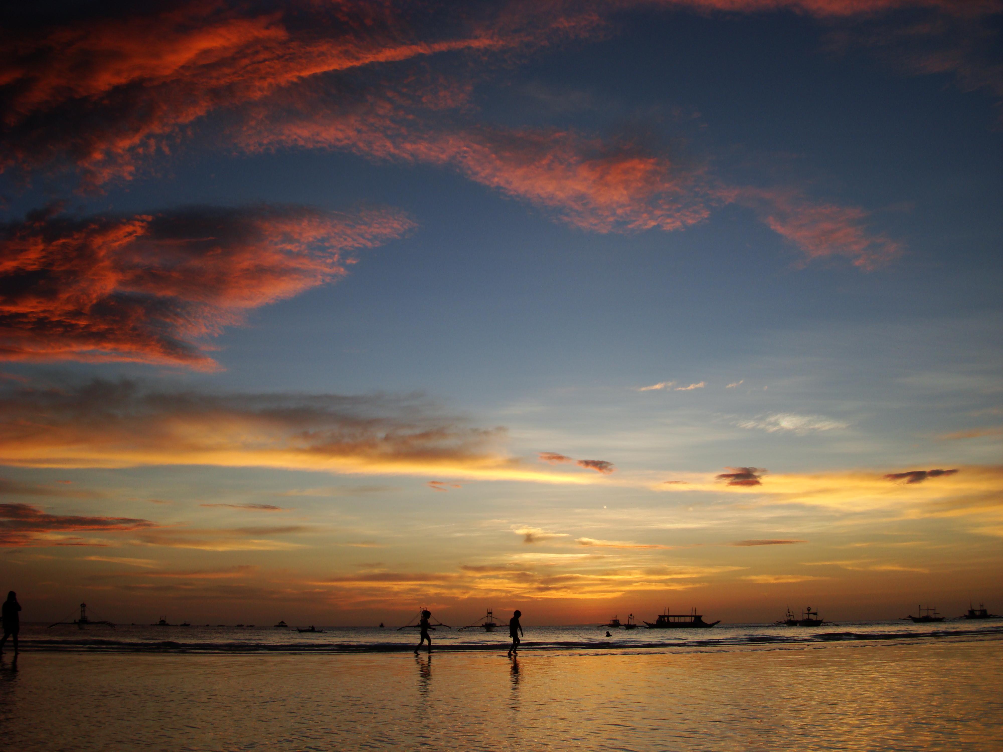 Sunset Philippines Boracay Beach 14