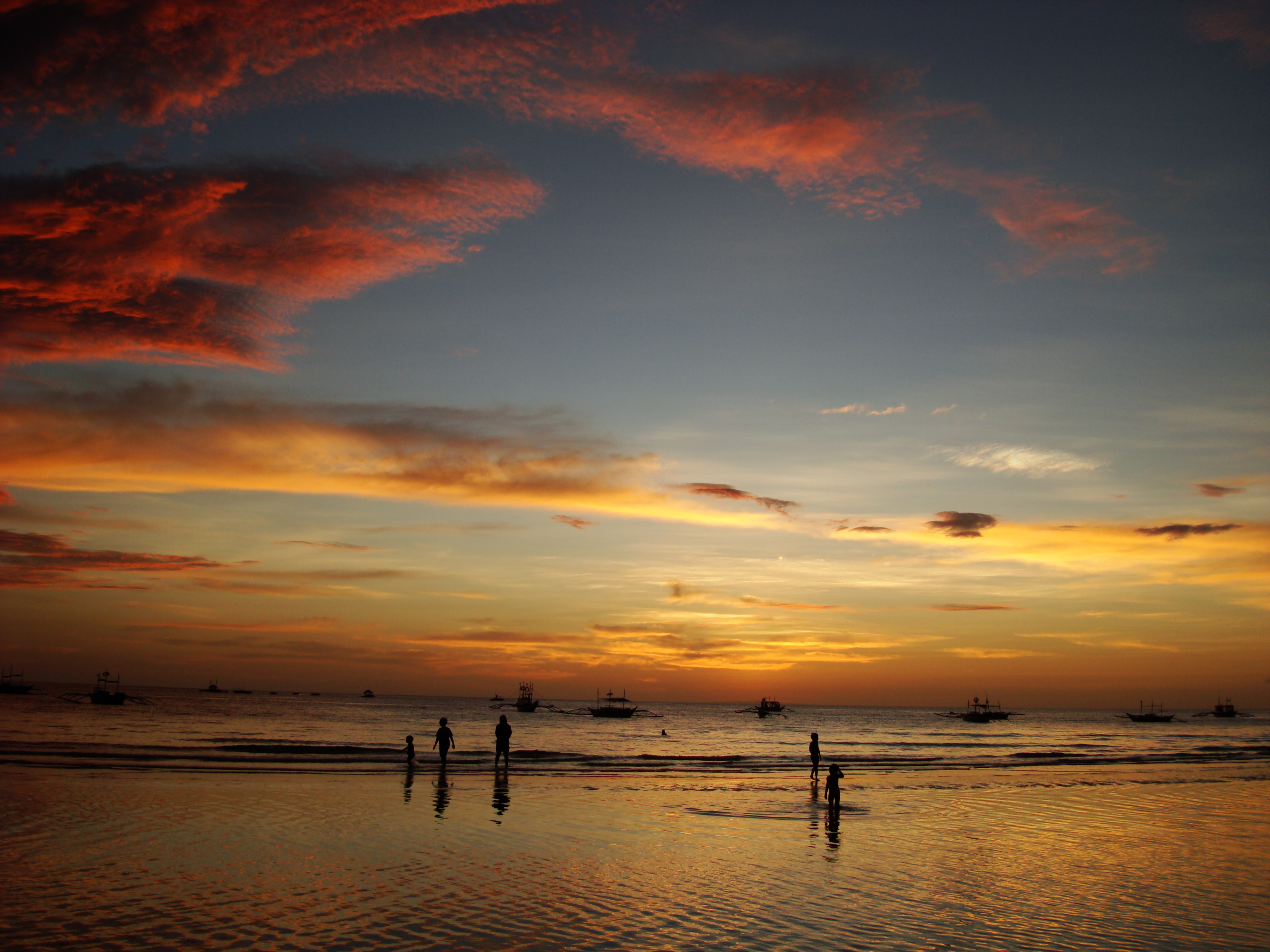 Sunset Philippines Boracay Beach 17