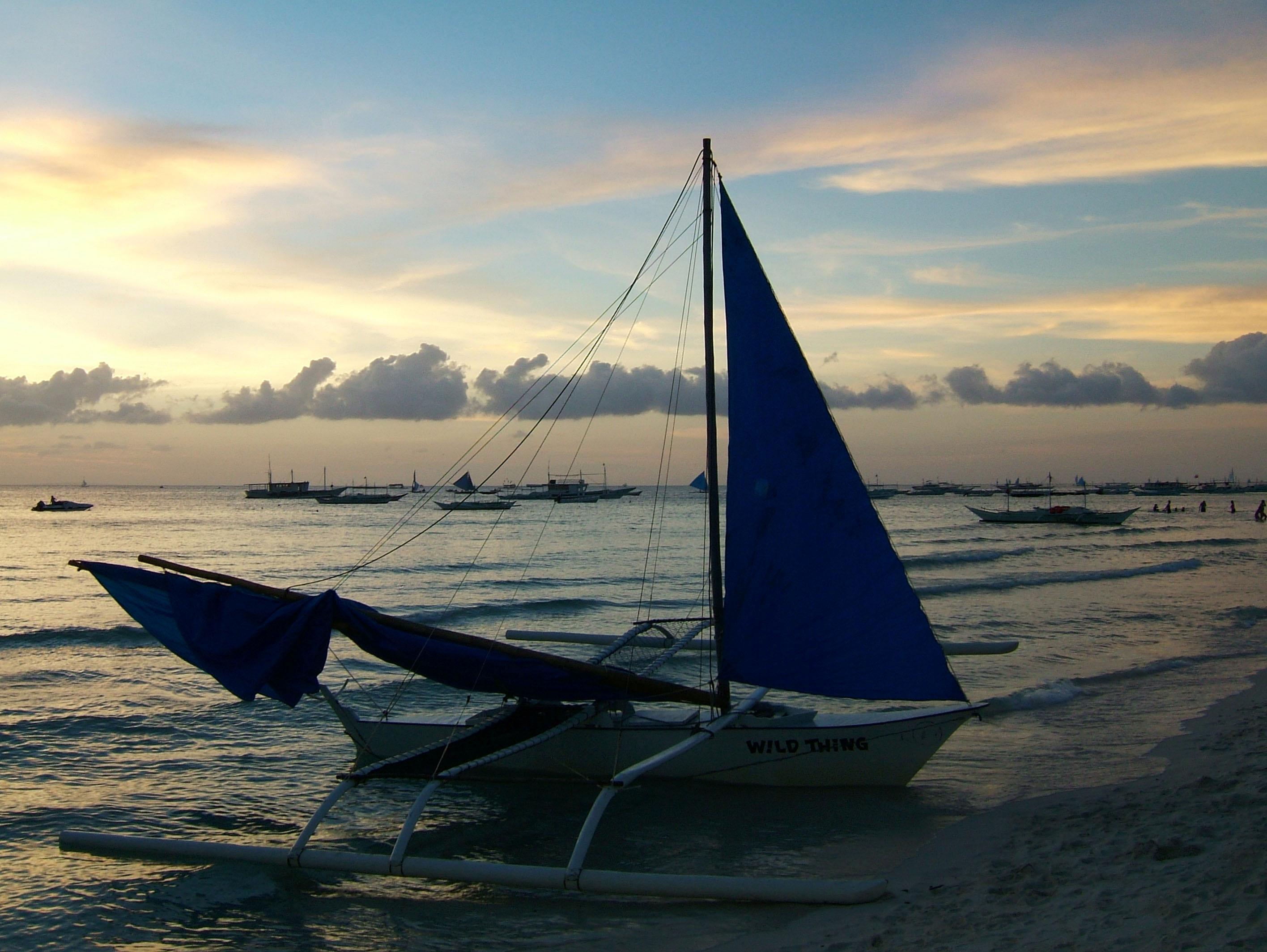 Sunset Philippines Boracay Beach 23