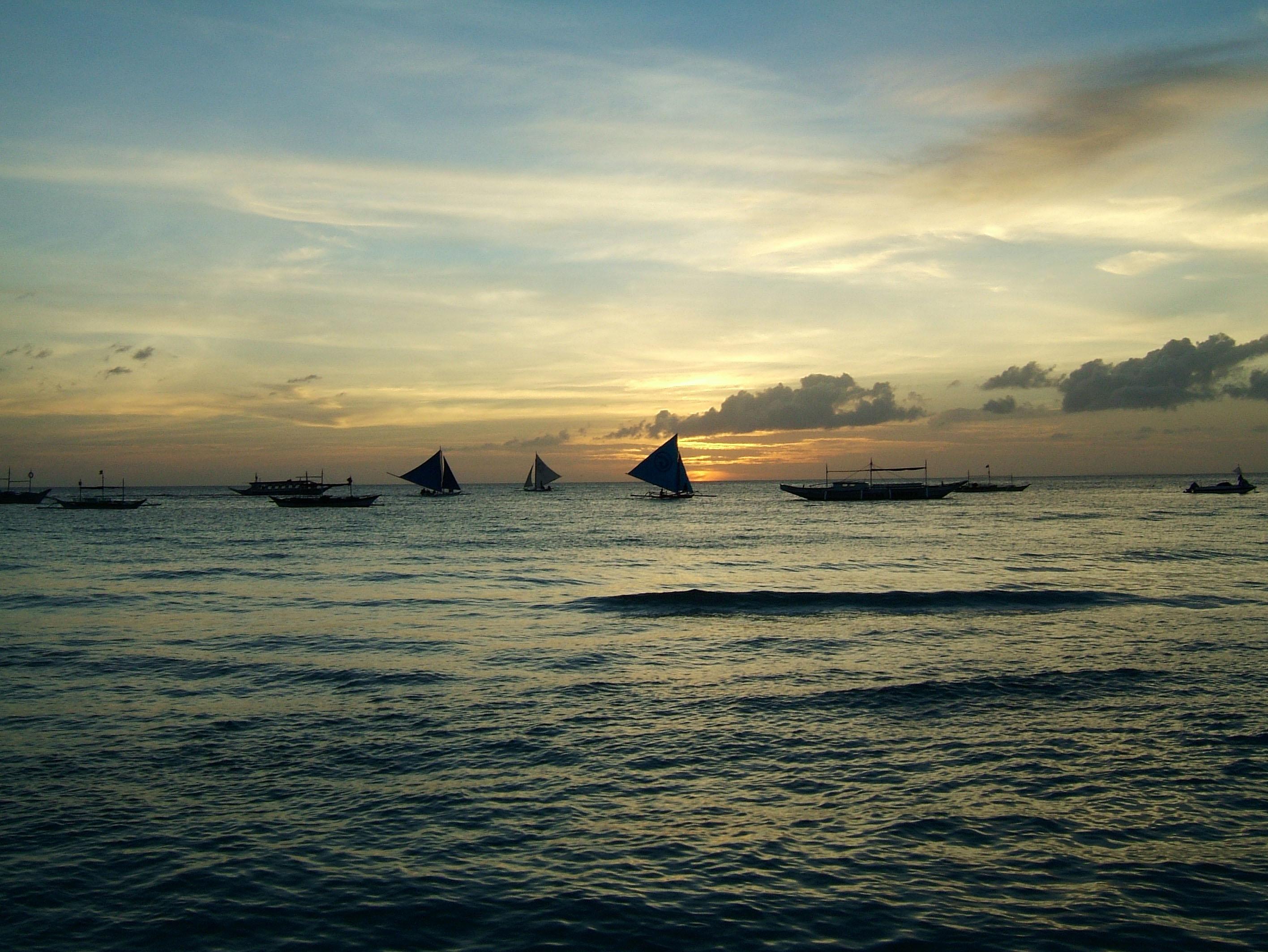 Sunset Philippines Boracay Beach 24