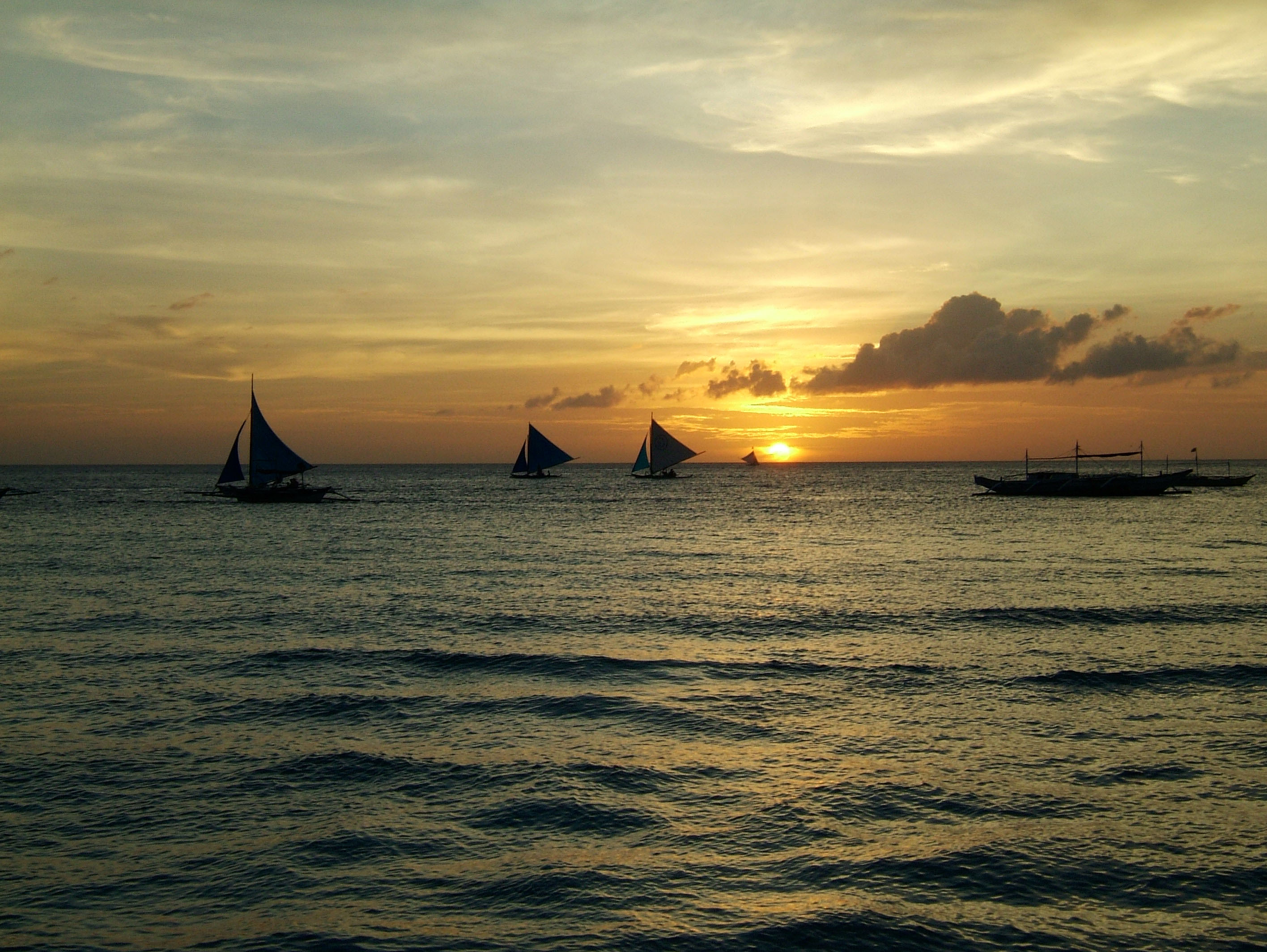Sunset Philippines Boracay Beach 25
