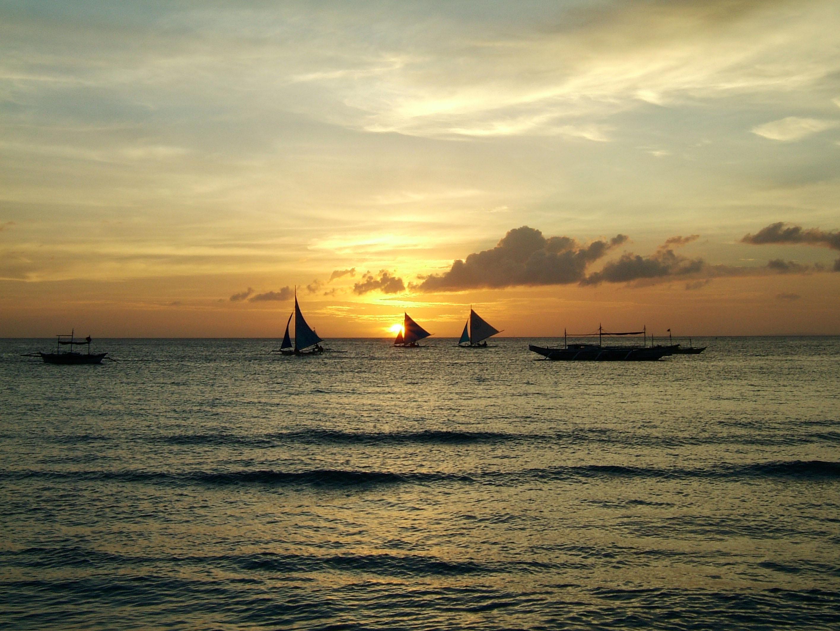 Sunset Philippines Boracay Beach 26