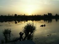 Asisbiz Sunset India Kashmir Srinagah Ajaz House Boat 02