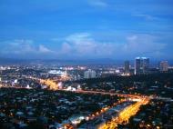 Asisbiz Sunset Philippines Manila Makati Roxas triangle 03