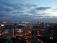 Asisbiz Sunset Philippines Manila Makati Roxas triangle 05