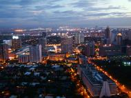 Asisbiz Sunset Philippines Manila Makati Roxas triangle 06