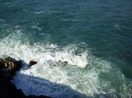 Asisbiz Textures Water h2o shoreline coastal rocks cliff 02