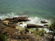 Asisbiz Textures Water h2o shoreline coastal rocks cliff 04