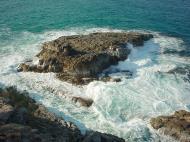 Asisbiz Textures Water h2o shoreline coastal rocks cliff 08