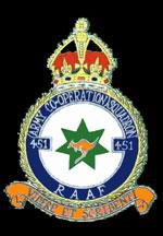 RAAF 451Sqn Squdron Crest