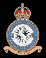 RAF No 131 (County of Kent) Squadron Crest